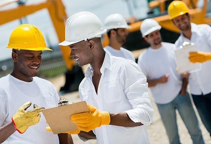 construction workers collaborating