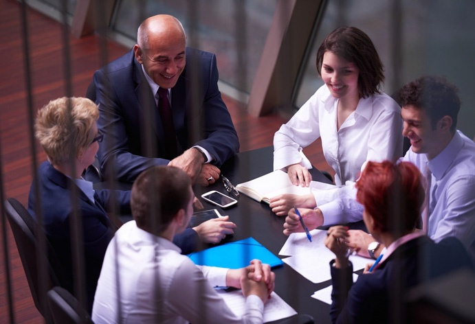 group-of-business-people-discussing-sale